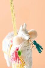 Anthropologie Christmas Ornaments Holiday Decor Adorned Llama
