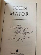 John Major Signed Autobiography UK Prime Minister