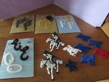 New listing New/unused Vintage 23 sew on monogram appliques, star and horses