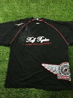 VTG Ruff Ryder Men Black Wrap around Print 3XL Short Sleeve Tee Shirt