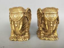 China pure brass elephant statue A pair