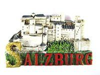 Salzburgo Fortaleza Austria Poly Imán Recuerdo Austria, Nuevo