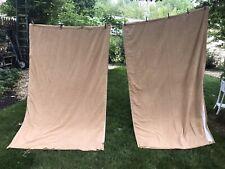 4 Panels Pottery Barn Blackout Curtains 50x84 Cotton Brown Microfiber Tan Rod Mt