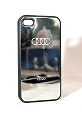 AUDI - MIRROR CHROME HARD CASE COVER FOR IPHONE 5/5s or 4/4s (Message Choice)