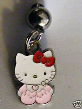 Hello Kitty W/ Pink Fuzzy Slippers Belly Ring 316 L