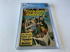 OUR FIGHTING FORCES 53 CGC 4.0 GUNNER AND THE NURSE JOE KUBERT DC COMICS 1960