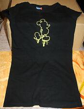 Disney  Long - T - Shirt  schwarz  mit gelber Maus vorn   Größe L / 188   NEU