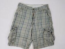Levis Mens Cargo Shorts Size 32 Blue Gray Plaid