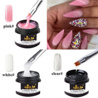 Clear/Pink/White Quick Builder Gel Nail Art Building Extension UV Gel Glue 30ml
