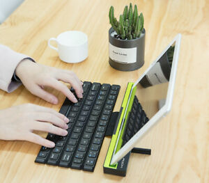 Portable Mini Wireless Foldable Bluetooth Keyboard For iPad Android Tablet