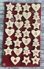 Christmas Wooden Advent Calendar Numbers Self Adhesive DIY Countdown To Xmas UK