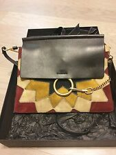 chloe Faye Wonder Woman patchwork suede leather shoulder bag authentic purse