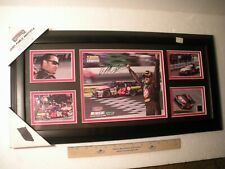 JUAN PABLO MONTOYA NASCAR INDY 500 F1 MOUNTED MEMORIES AUTOGRAPH LARGE DISPLAY