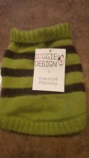 Doggie Design Green Dog Sweater 6-10lbs