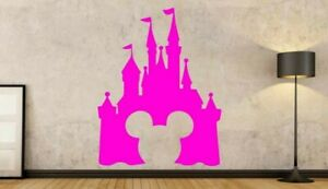 Disney Princess Castle Personalised Wall Art Stickers Cinderella Decals Sticker