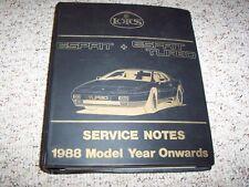1988 Lotus Esprit Turbo Shop Service Repair Workshop Manual 1989 1990 1991 1992