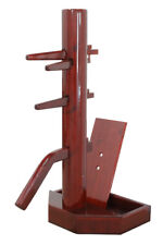 Wing Chun Wooden Dummy with Base Cherry-Colored With Form And Cover