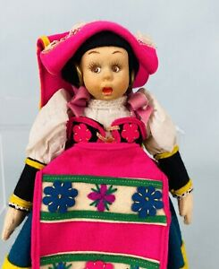 """9"""" Lenci Mascotte Doll in Excellent Condition with Original Tags Pink Felt CUTE"""