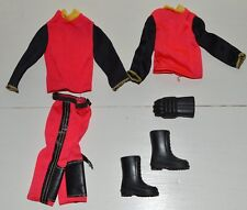 Tenue Outfit vêtement BIG JIM Vintage Moto Sport Adventure Action Set MATTEL