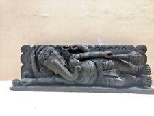 Ganesh Ganesha Wall Panel Vintage Sculpture Hindu Temple Hanging Wooden Figurine