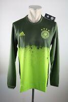 Deutschland Trikot Training LS Gr. S M L DFB 4 Sterne grün Shirt Warm up Neu