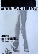 JACKIE DeSHANNON 1963 vintage POSTER ADVERT WHEN YOU WALK IN THE ROOM