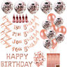 Rose Gold Happy Birthday Bunting Banner Balloons 18/21st/30/40/50/60th Party