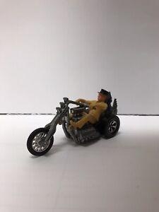 1971 HOT WHEELS Torque Chop Bike With Tan Rider Top Hat (rare)