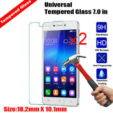 Universal 7 inch Tablet 2Pcs Genuine 9H Tempered Glass Screen Protector Film NEW