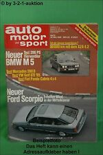 AMS Auto Motor Sport 6/85 * BMW M5 Toyota MR2 Golf GTI Panda  Corsa Sprint