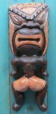 WOOD CARVED TIKI AFRICAN TRIBAL MAN HOME DECOR HAWAIIAN POLYNESIAN