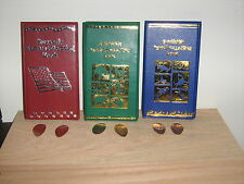 3 Elongated Penny Souvenir Collector Books With 5 Free Pressed Pennies! New!