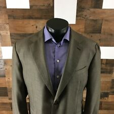 CANALI Men Sport Coat 48L Silk Wool Sport Coat Blazer Birdseye Metallic Brownish