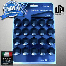 (20) NEW 19MM HEX BLACK CAP COVERS LUG BOLTS NUT PONTIAC SATURN RIMS WHEEL ITALY