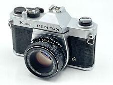 Pentax K1000 35mm SLR Camera Kit w/ 50mm Lens - Very Good