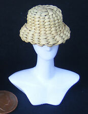 1:12 Scale Natural Hand Woven Hat Dolls House Miniature Clothing Accessory