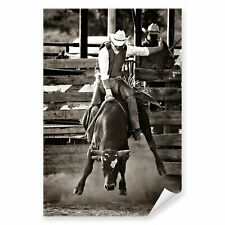 The Roundup Warm Keilrahmen-Bild Leinwand Pferde Cowboy Reiter Marilyn Hageman