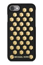 Michael Kors iphone 7 Phone Case Cover Saffiano Leather Faceted Studs NIB Black