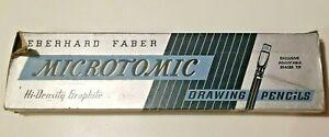 Eberhard Faber Microtomic 603-4H Box Of 12 Black Band Gold Ferrule Pencils