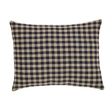 """NAVY CHECK FABRIC ACCENT PILLOW WITH PILLOW FILL 14X18"""" NAVY / KHAKI CHECK"""