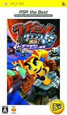 Used Sony PSP Japan Ratchet&Crank 5 Crash Millimmilli Corps Reprint PlayStation