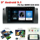 """9"""" Android9.1 Car Stereo Radio GPS Navigation Player WiFi for BMW E39 E53 X5 M5"""