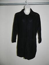 Susan Bristol Cardigan Black Plus Size 1X Sweater Snap Front Womens NWOT