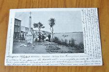 CARTOLINA MESSINA GANZIRRI RIVIERA FARO RARA VIAGGIATA 1903 SUBALPINA ZZ