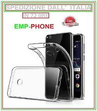 Cover Custodia Trasparente Slim + Pellicola Vetro Temperato Huawei P8 Lite 2017