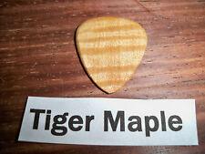 "Wood guitar pick ""Tiger Maple ""  by RobinsonWood Picks"