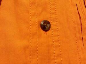 UPF 50 Field & Stream Outdoor Russet Orange Men Shirt Short Sleeve Size L 34.99
