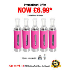 5 x Genuine Pink MT3 Vape Tank Atomizer Clearomizers for E Cigarette Liquid Oil