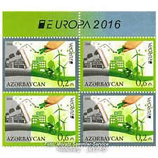Aserbaidschan Azerbaijan Europa CEPT 2016, Umwelt/Think green, teilgezähnt **