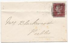 * 1853 Copertura locale? a Mrs BLACKWOOD in Peebles Blu incorniciato innerleithen locale